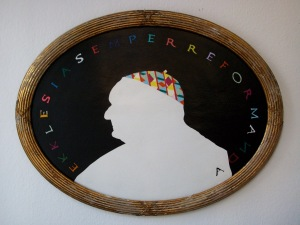 Ekklesia Semper Reformanda Acrilic on cardboard 89 x 78 cm 2012