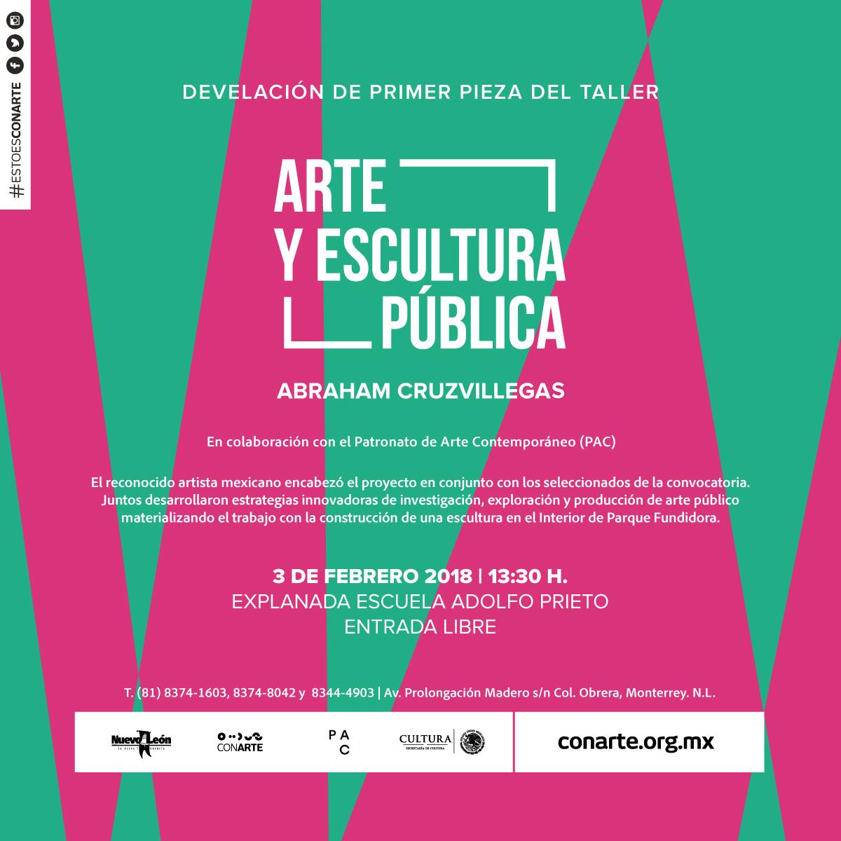 Flyer Inauguracion ACV Escuela Adolfo Prieto 3 de Febrero 2018